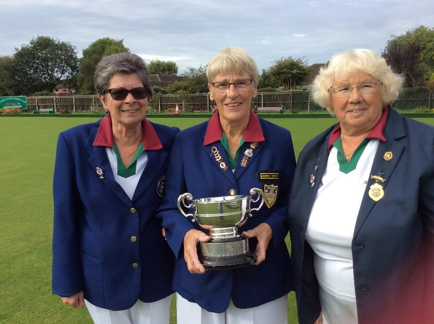 Congratulations to Blaby Ladies Jill Cleaver, Kath Murray and Janet Irons on winning through to the Finals of the County Triples 2017