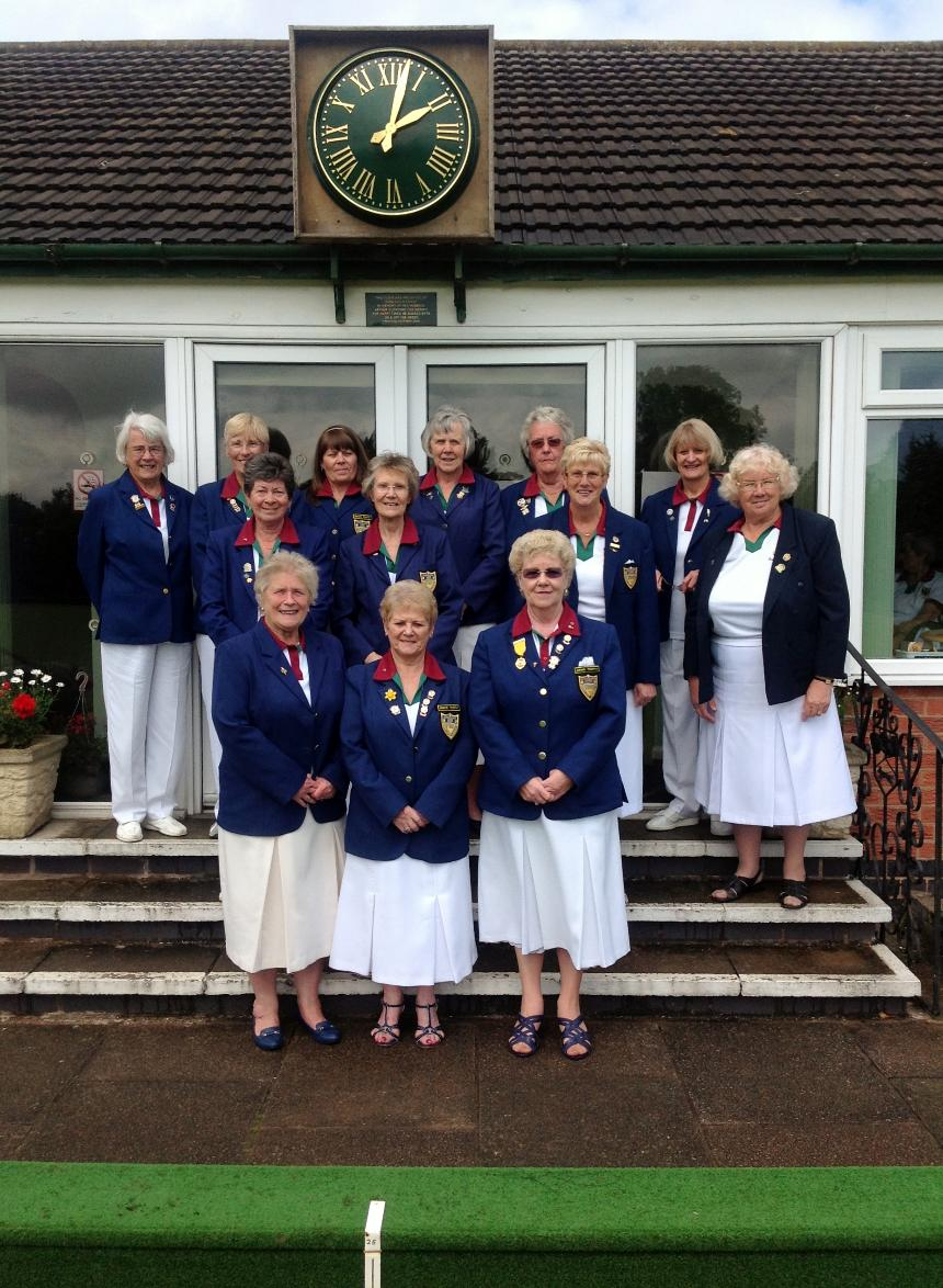 Blaby Ladies winners of 2012 Triples League
